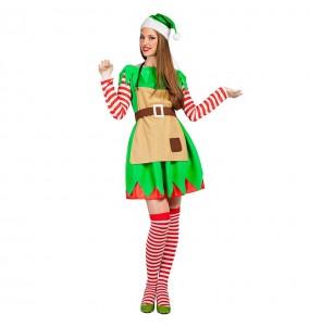 Travestimento Elfa di Natale donna per divertirsi e fare festa