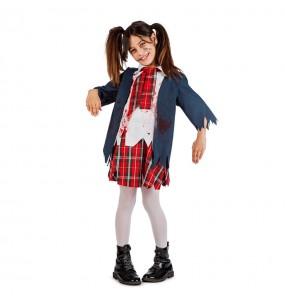 Vestito Studentessa Zombie bambine per una festa ad Halloween