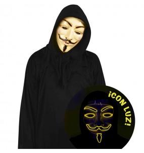 Maschera Anonymous di luce