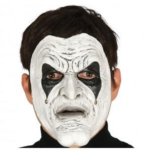 Maschera giullare omicida per poter completare il tuo costume Halloween e Carnevale