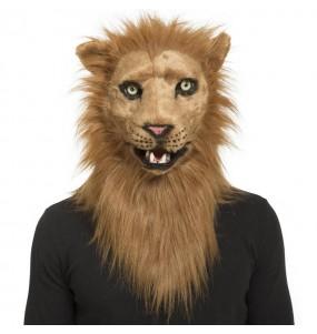 Maschera Lion con mascella mobile per poter completare il tuo costume Halloween e Carnevale