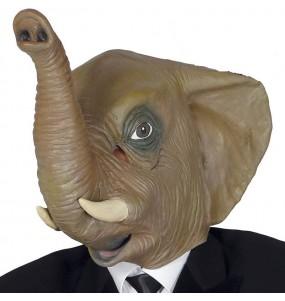 Maschera elefante in lattice per poter completare il tuo costume Halloween e Carnevale