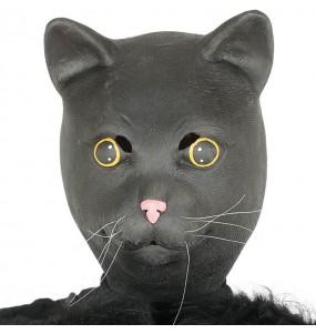 Maschera gatti in lattice per poter completare il tuo costume Halloween e Carnevale