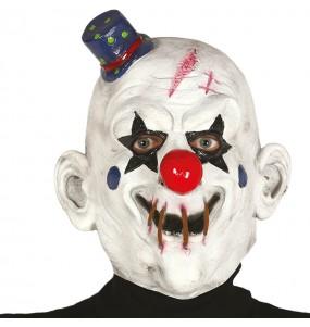 Maschera pagliaccio assassino in lattice per poter completare il tuo costume Halloween e Carnevale