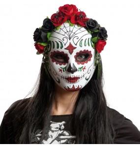 Maschera scheletro Catrina Day of the Dead