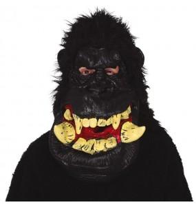 Maschera Gorilla Gigante con i capelli