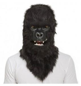 Maschera Gorilla King Kong con mascella mobile per poter completare il tuo costume Halloween e Carnevale