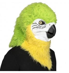 Maschera pappagallo con mascella mobile per poter completare il tuo costume Halloween e Carnevale