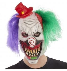 Maschera clown pazzo per poter completare il tuo costume Halloween e Carnevale
