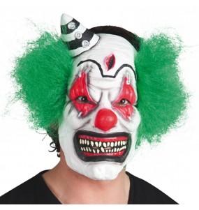 Maschera pagliaccio psicotica per poter completare il tuo costume Halloween e Carnevale