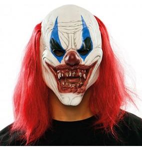 Maschera pagliaccio assetata di sangue per poter completare il tuo costume Halloween e Carnevale