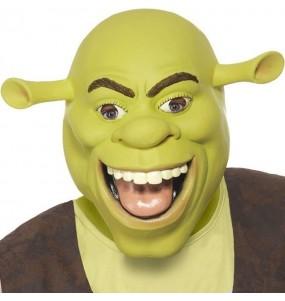 Maschera Shrek in lattice per poter completare il tuo costume Halloween e Carnevale