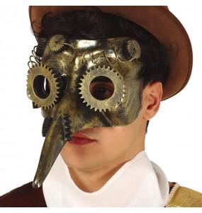 Maschera Steampunk La Peste per poter completare il tuo costume Halloween e Carnevale