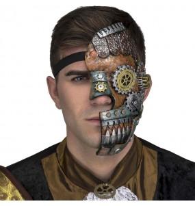 Maschera retrò Steampunk per poter completare il tuo costume Halloween e Carnevale
