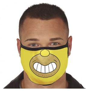 Mascherina Homer Simpson di protezione per adulti