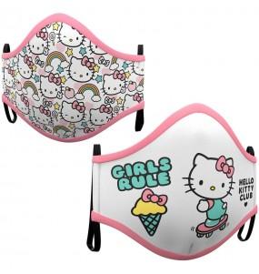 Mascherina Hello Kitty di protezione per bambini