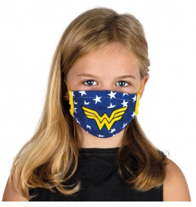 Mascherina Wonder Woman di protezione per bambini