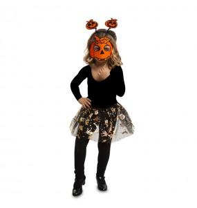 Vestito Zucca tutù bambine per una festa ad Halloween