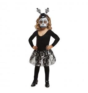 Vestito Scheletro tutù bambine per una festa ad Halloween