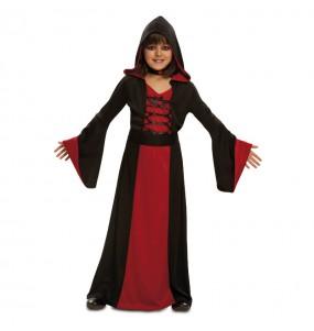 Vestito Maga rossa bambine per una festa ad Halloween