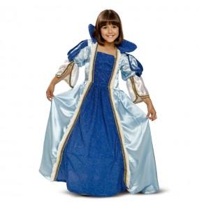 Travestimento principessa blu bambina che più li piace