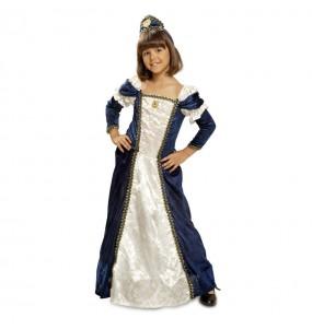 Travestimento Dama medievale blu bambina che più li piace
