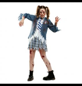 Travestimento Scolara Zombie donna per divertirsi e fare festa