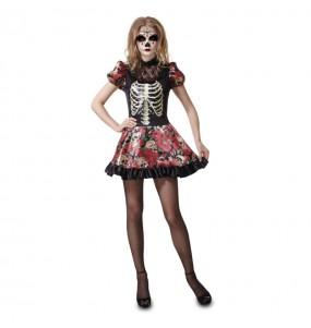 Costume Catrina morte messicana donna per una serata ad Halloween