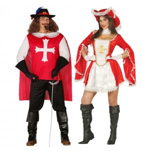 L'originale e divertente coppia di Moschettieri rossi per travestirsi con il proprio compagno
