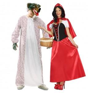 L'originale e divertente coppia di Lupo e Cappuccetto per travestirsi con il proprio compagno