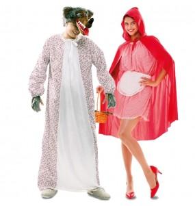 L'originale e divertente coppia di Lupo e Cappuccetto Rosso per travestirsi con il proprio compagno