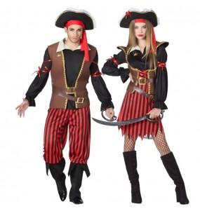 Travestimenti coppia capitani pirata divertenti per travestirti con il tuo partner