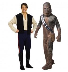 L'originale e divertente coppia di Chewbacca e Han Solo per travestirsi con il proprio compagno