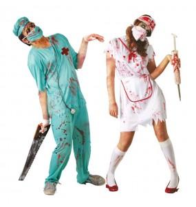 Travestimenti coppia Chirurgo ed infermiera zombi divertenti per travestirti con il tuo partner