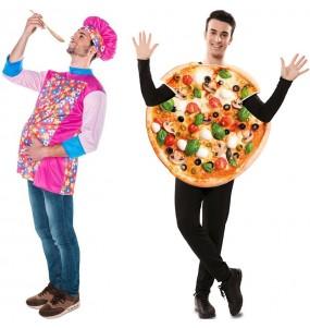 L'originale e divertente coppia di Cuoco e Pizza per travestirsi con il proprio compagno