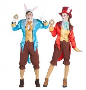 Travestimenti coppia conigli Alice nel paese delle meraviglie divertenti per travestirti con il tuo partner