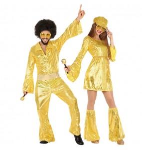 Travestimenti coppia discoteca oro divertenti per travestirti con il tuo partner