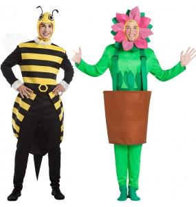 L'originale e divertente coppia di Bombo pungente e Pentola con girasole per travestirsi con il proprio compagno