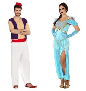 L'originale e divertente coppia di Aladdin e Jasmine per travestirsi con il proprio compagno