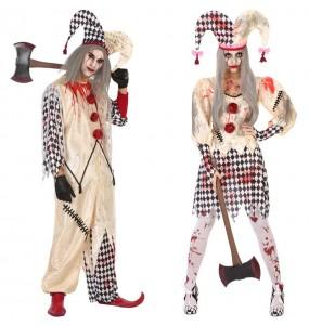 L'originale e divertente coppia di Arlecchini sanguinari per travestirsi con il proprio compagno