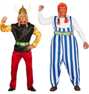 L'originale e divertente coppia di Asterix e Obelix per travestirsi con il proprio compagno