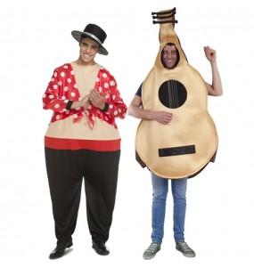 L'originale e divertente coppia di Ballerino di Flamenco e Chitarra per travestirsi con il proprio compagno