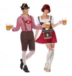 Travestimenti coppia bavaresi Oktoberfest divertenti per travestirti con il tuo partner