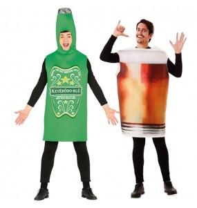 L'originale e divertente coppia di Bottiglia e Pinta di Birra per travestirsi con il proprio compagno