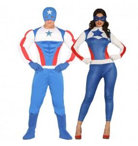 L'originale e divertente coppia di Capitan e Capitana America per travestirsi con il proprio compagno