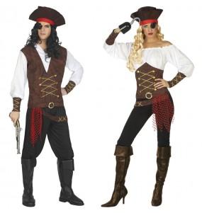 Costumi di coppia Capitani nave pirata