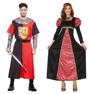 L'originale e divertente coppia di Crociato medievale e Principessa di corte per travestirsi con il proprio compagno