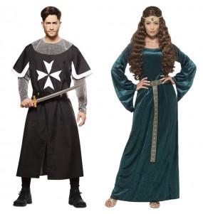 Travestimenti coppia crociati e regina medievale divertenti per travestirti con il tuo partner