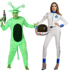 L'originale e divertente coppia di Alieno e Astronauta per travestirsi con il proprio compagno