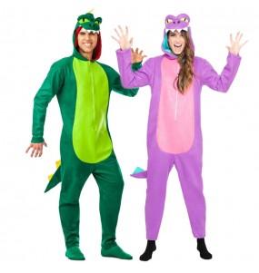 Travestimenti coppia dinosauri divertenti per travestirti con il tuo partner